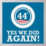 Obama - hicimos sí OTRA VEZ Poster