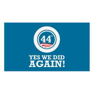 Obama - hicimos sí OTRA VEZ Tarjetas De Visita