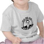 Obama hicimos sí otra vez V1 BW Camisetas