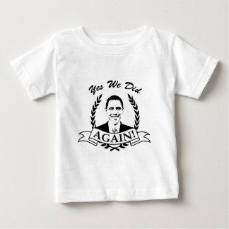 Obama hicimos sí otra vez V2 BW Camisas