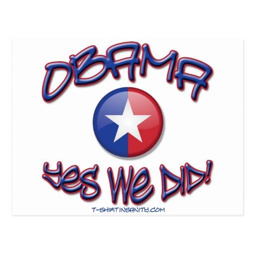 Obama hicimos sí postal