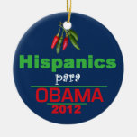 Obama HISPANICS Christmas Tree Ornament