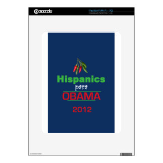 Obama HISPANICS Decal For iPad