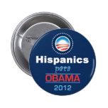 Obama HISPANICS Pinback Buttons