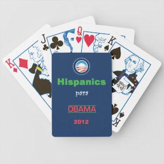 OBAMA HISPANICS BICYCLE PLAYING CARDS