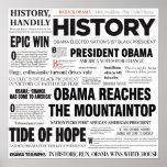 Obama: Historic Headline Collage Poster
