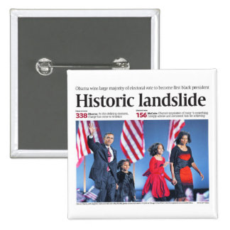 Obama: Historic Landslide Button