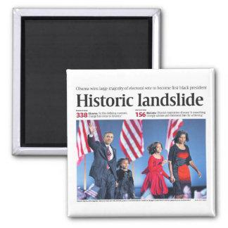 Obama: Historic Landslide Magnet