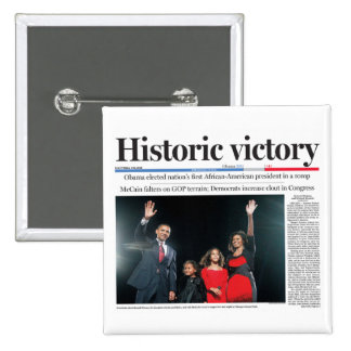 Obama: Historic Victory Button