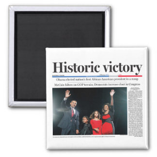 Obama: Historic Victory Magnet