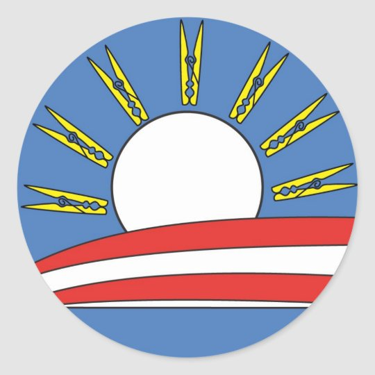 Obama: Hold Your Nose and Vote logo Classic Round Sticker