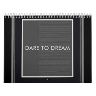 """Obama homage to a great one... """"Dare to Dream"""" Calendar"""