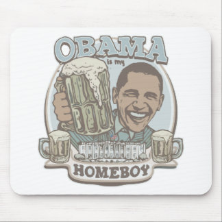 Obama Homeboy Beer Gear Mouse Pads