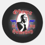 Obama_Homeboy_Mag1 Pegatina Redonda