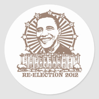 Obama Homeboy Re-Election 2012 Gear Classic Round Sticker