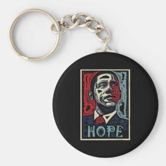Obama Hope 2 Basic Round Button Keychain