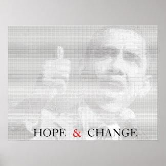 Obama Hope & Change Ascii Art Poster