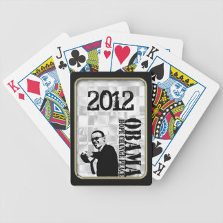Obama Hope Change Peace  Black Frame Bicycle® Play Bicycle Playing Cards
