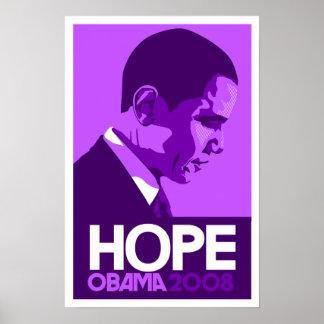 Obama - Hope Dark Purple Poster