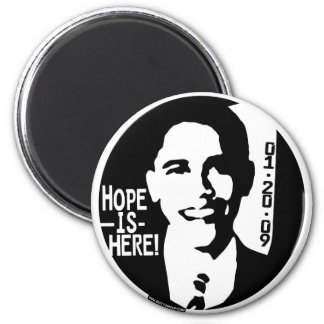 Obama Hope is Here 2009 Gear 2 Inch Round Magnet