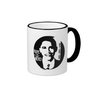 Obama Hope is Here 2009 Gear Ringer Mug