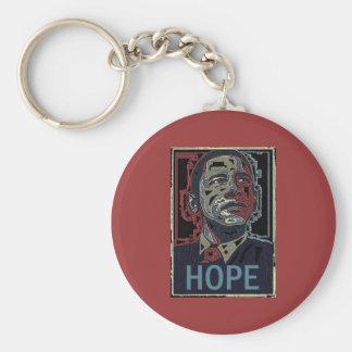 Obama Hope Basic Round Button Keychain