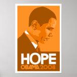 Obama Hope Orange Print