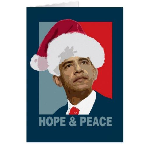 Obama Hope & Peace Card