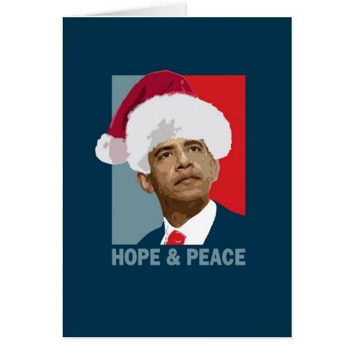 Obama Hope & Peace Greeting Cards