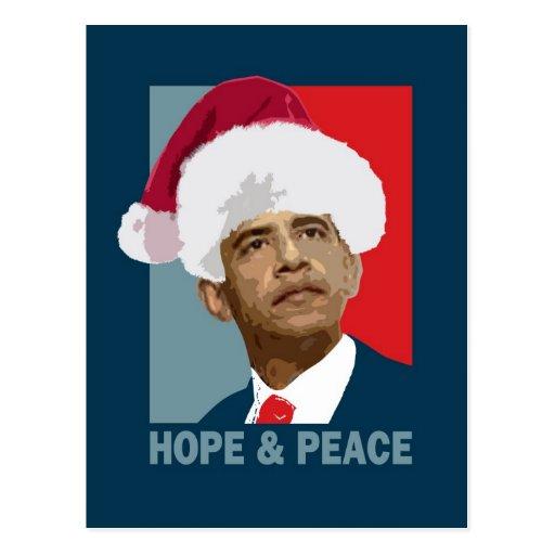 Obama Hope & Peace Post Card