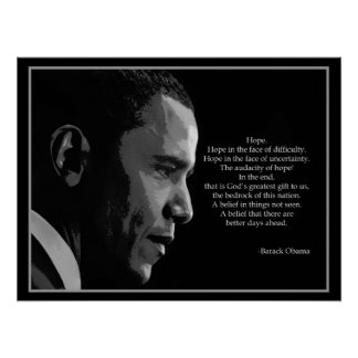 "obama hope poster essay The ""hope"" poster, featuring an image of barack obama, began with a print run  of just 350, and spread after it was distributed on the street,."