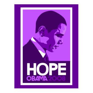 Obama Hope Purple Postcard