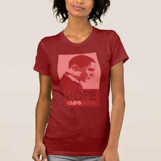 Obama - Hope:Red T-Shirt