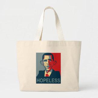 Obama hopeless large tote bag