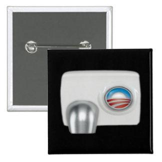 Obama Hot Air Machine Pinback Buttons