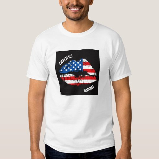 OBAMA Hot Lips with a Kiss 91021 T Shirts
