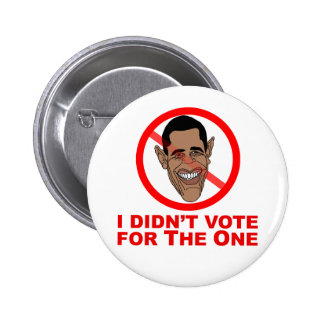Obama: I didn't vote for The One Pins