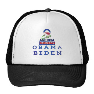 obama i love trucker hat