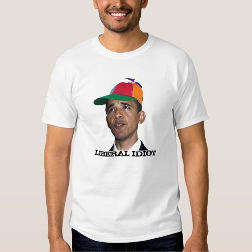 Obama, IDIOTA LIBERAL Playera