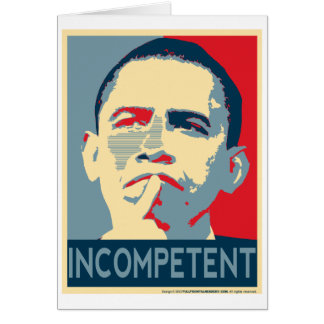 Obama - If at first you don't succeed... Greeting Card