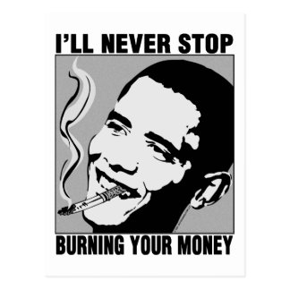 Obama: I'll Never Stop Postcard