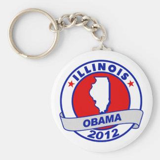 Obama - Illinois Keychain