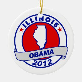 Obama - Illinois Ornament