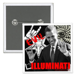 Obama - Illuminati 2 Inch Square Button