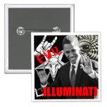 Obama - Illuminati Button
