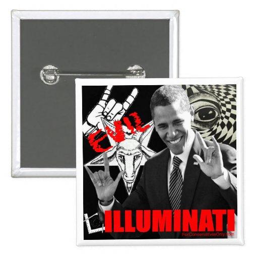 Obama - Illuminati Pins