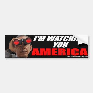 Obama - I'm Watching You America Car Bumper Sticker
