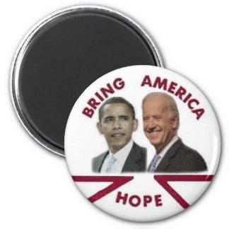Obama/imán de la esperanza de Biden Imán Redondo 5 Cm