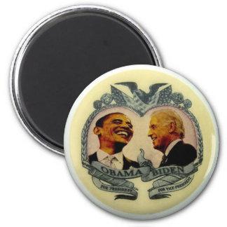 Obama/imán retro de Biden Jugate Imán Redondo 5 Cm