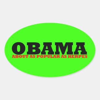 Obama impopular colcomanias de óval personalizadas